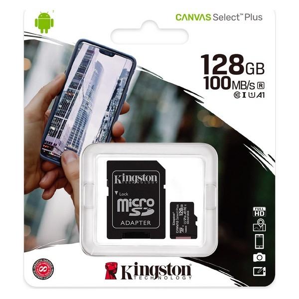 Minneskort 128GB SD / Micro SD / SDXC Kingston Ny
