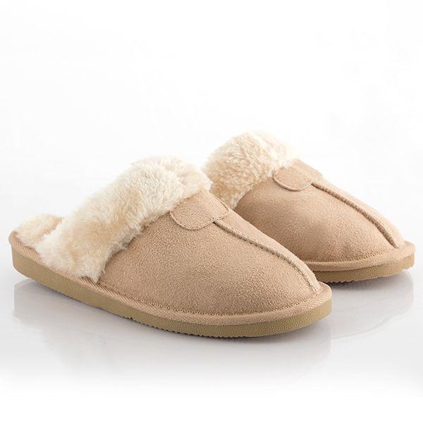 Varma och bekväma tofflor Brun