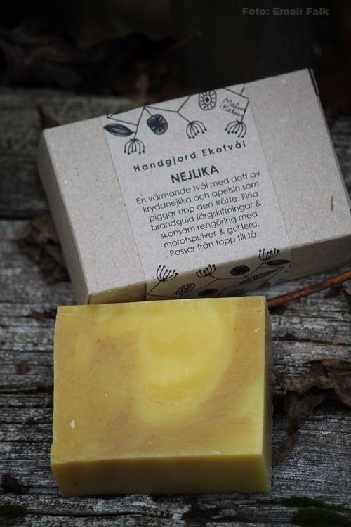 Ekologisk tvål i presentförpackning