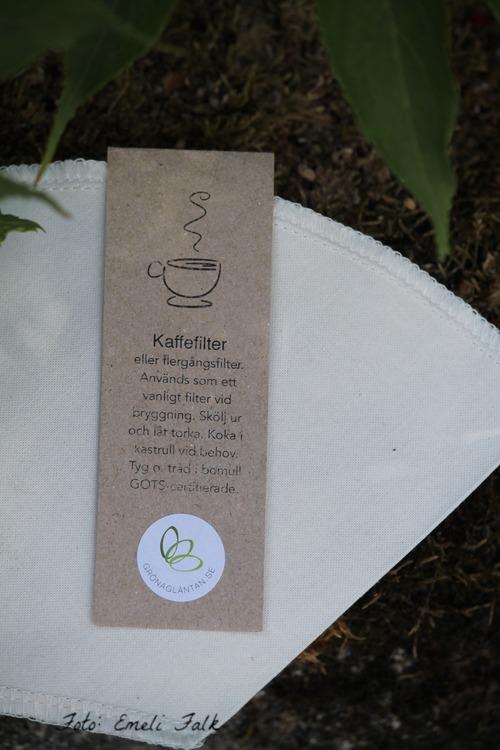 Kaffefilter, ekologisk bomull