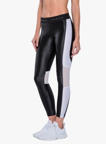 Koral Emblem leggings, Black/white