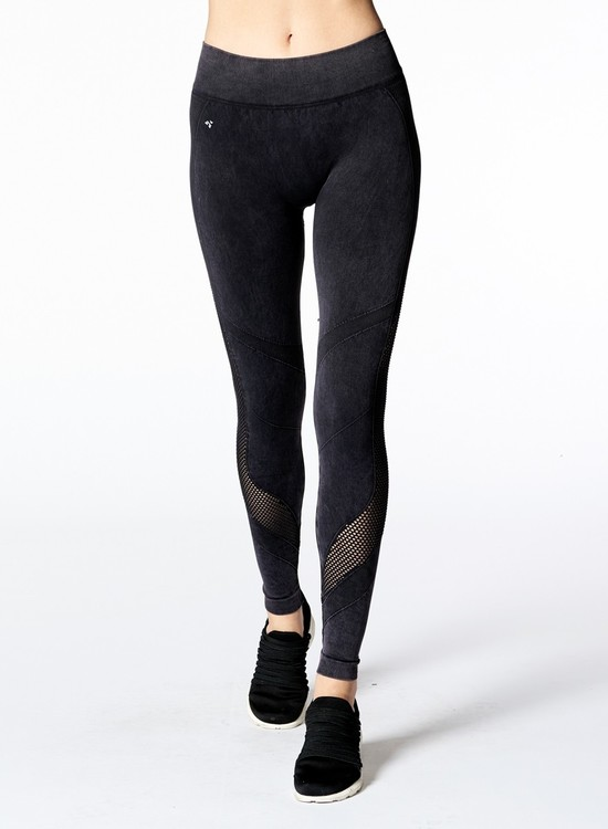 NUX, Mineral wash Network legging Washed black