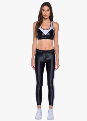 Koral Emblem leggings, Black/white