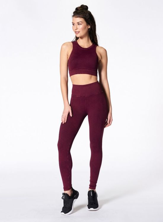 NUX, One by one legging Violet wine