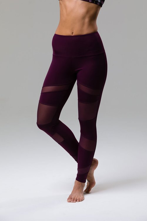 Onzie, High Rise Bondage leggings Aubergine