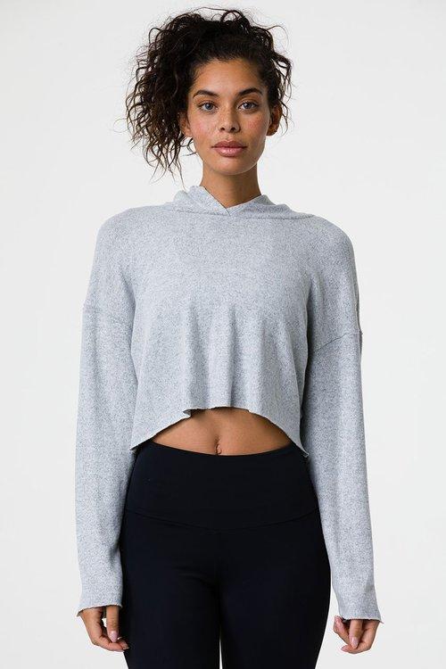 Onzie, Weekend crop hoodie heather grey