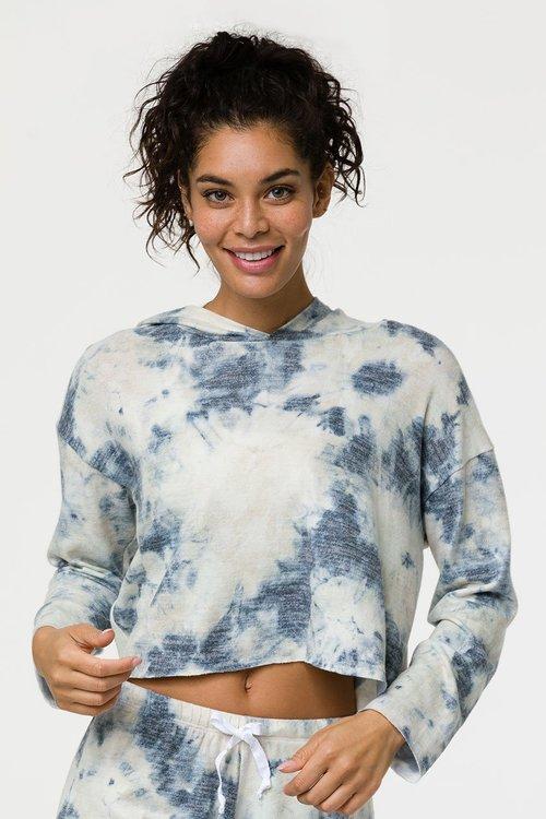 Onzie, Weekend crop hoodie Tie Dye