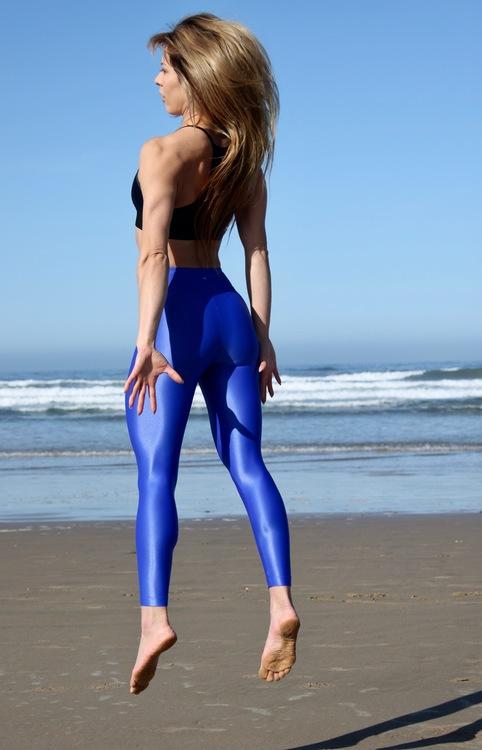 Koral activewear, Lustrous high rise leggings Royal Blue