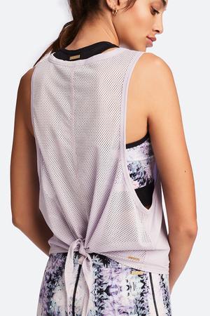 Mesh Tie back tank, lilac
