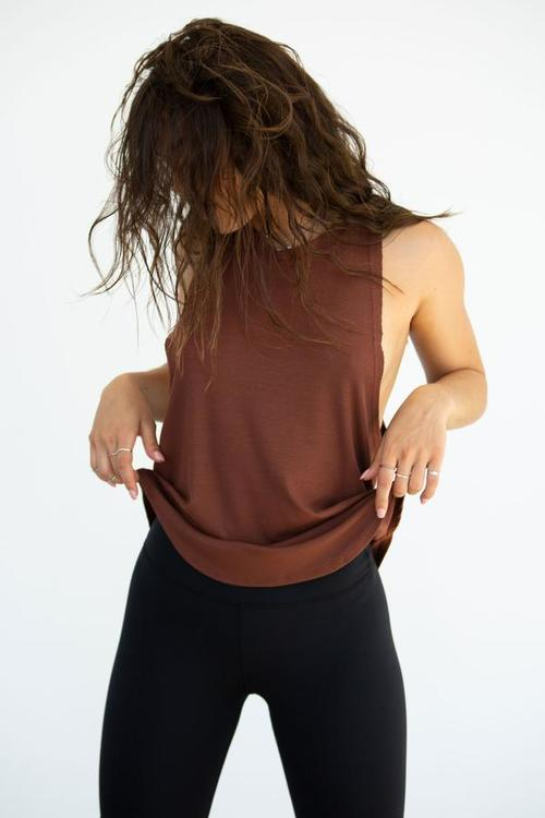 Joah brown, Round Hem Muscle tank Oxblood