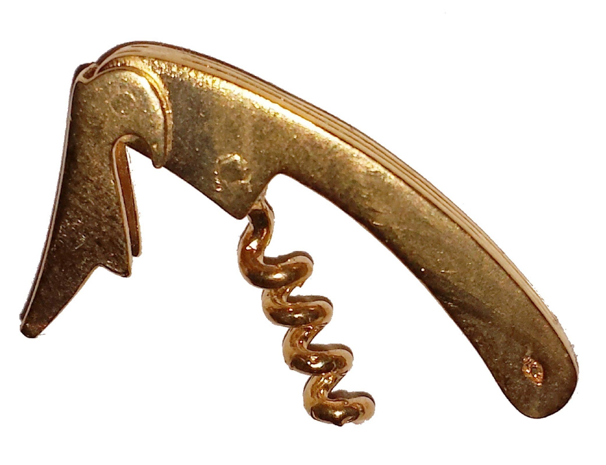 Brosch i guldförgyllt silver korkskruv