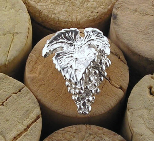 Brosch i silver druvklase