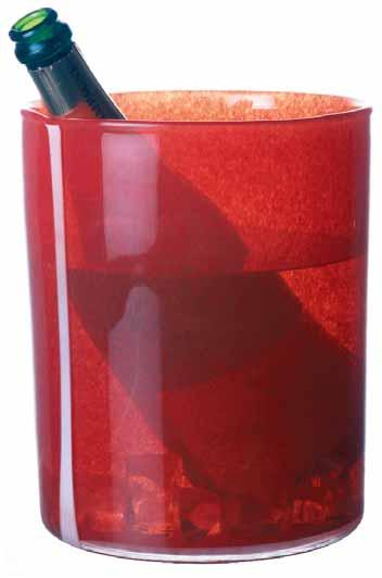 Champagnekylare  i rött glas