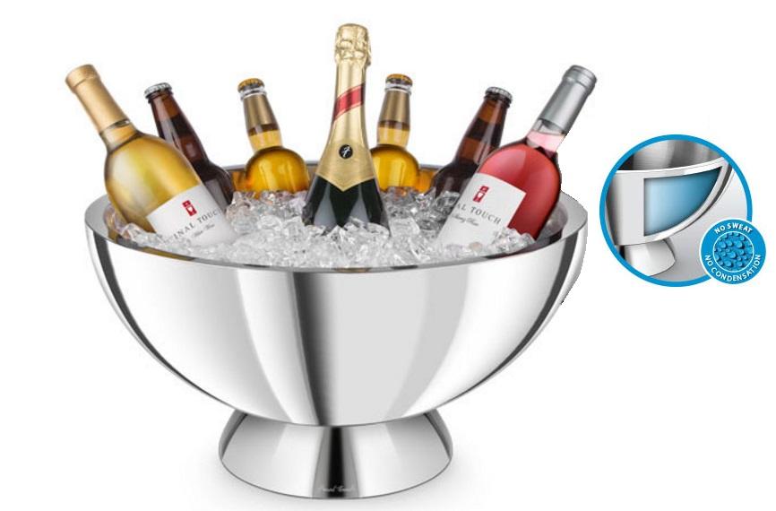 Champagnekylare dubbelväggad 4 vinflaskor