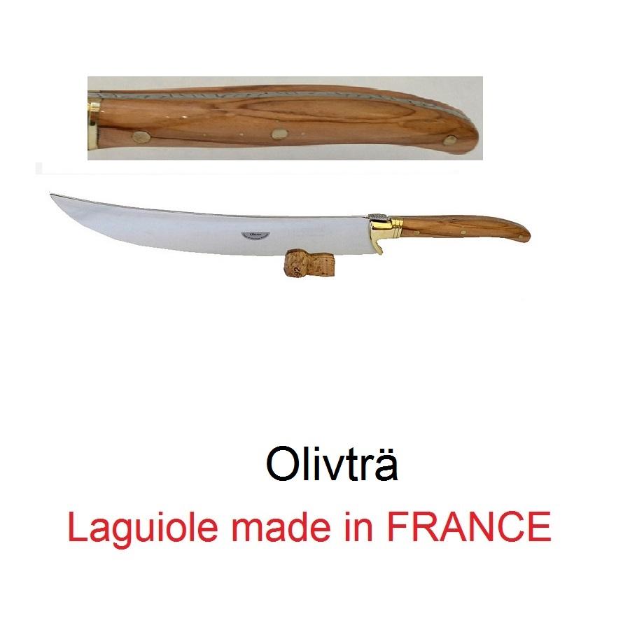 Champagnesabel från Laguiole Olivträ