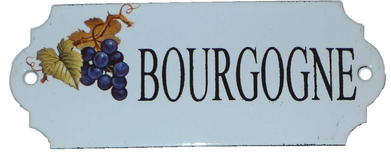 Emaljskylt Bourgogne