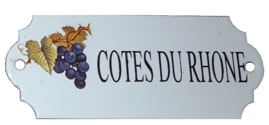 Emaljskylt Cotes Du Rhone