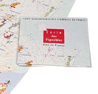 Karta över Frankrike ihopvikt