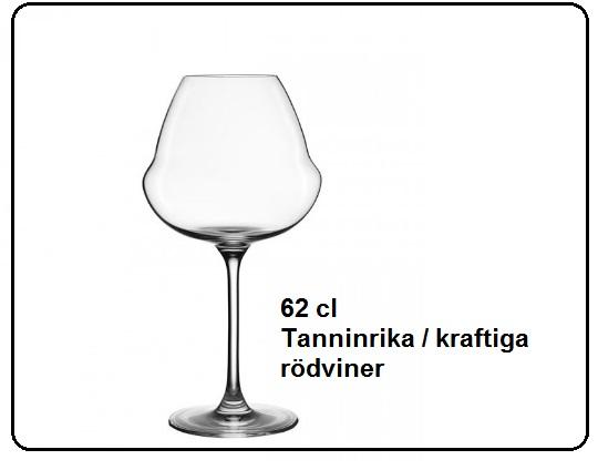 Rödvinsglas LEHMANN OENOMUST 62 cl