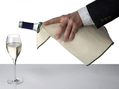 Servett för vinflaskor i bomull
