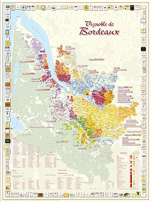 Vinkarta Bordeaux poster