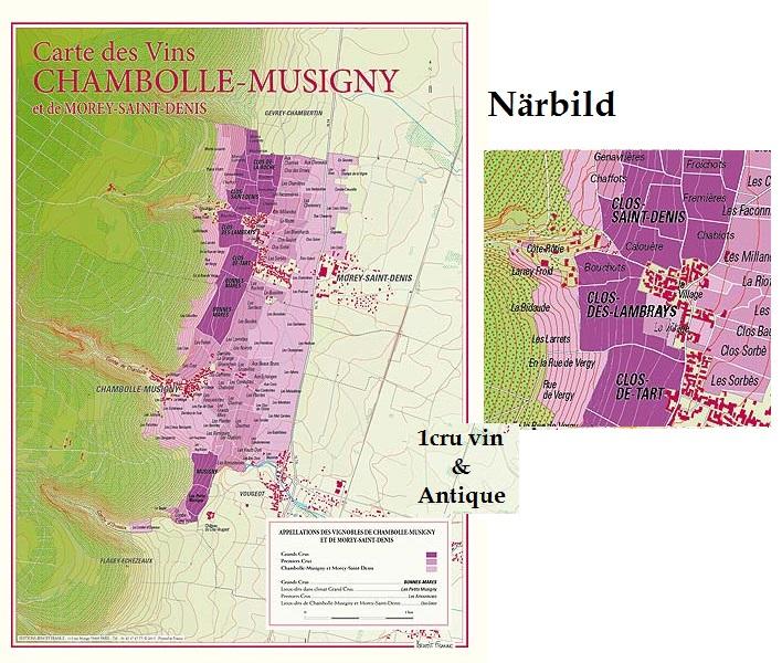 Vinkarta Chambolle Musigny & Morey Saint Denis