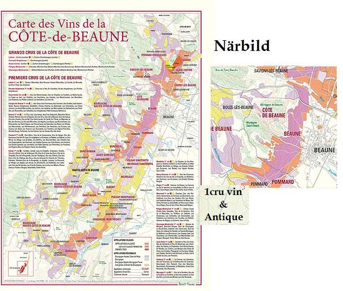 Vinkarta Cote de Beaune Bourgogne