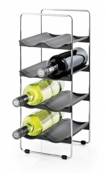 Vinställ 8 flaskor i metall och plast Blomus