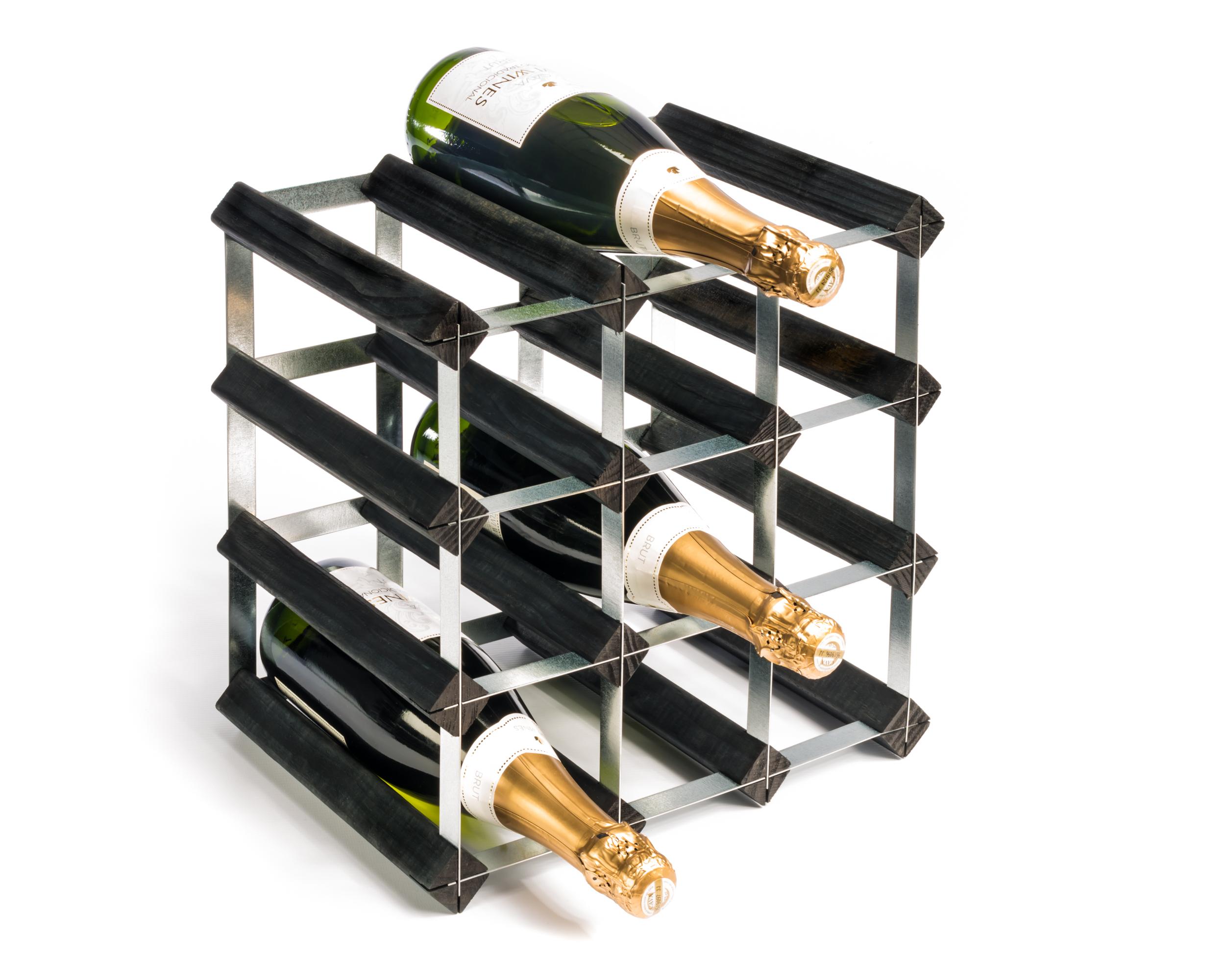 Vinställ RTA i trä för 12 flaskor