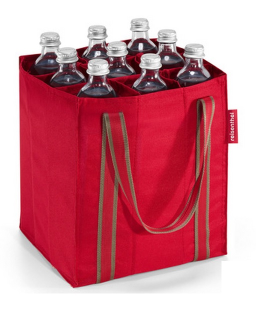 Vinväska röd för 9 flaskor från Reisenthel