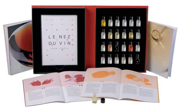 Nez du Vin 24 doftaromer för rött och vitt vin