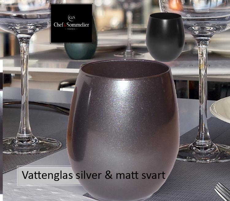 Vattenglas  silverfärgade från Chef and Sommelier