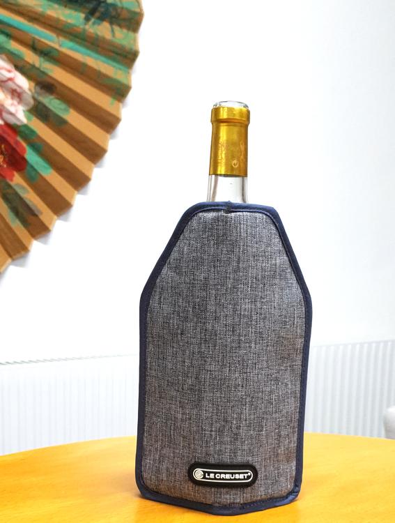 Vinåpåse som kyler - Kylpåse för vinflaskor - Grå färg