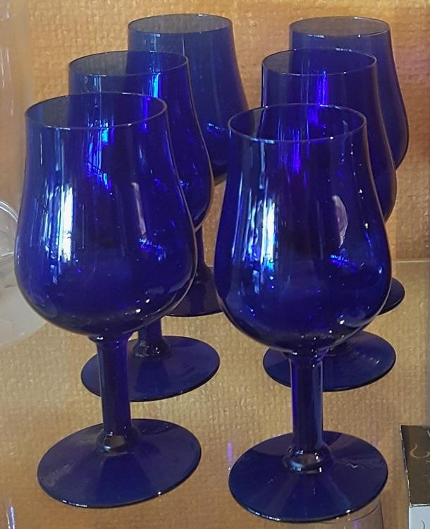 Whiskeyglas 6 stycken blå