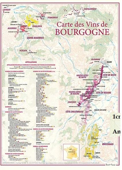 Vinkarta Bourgogne