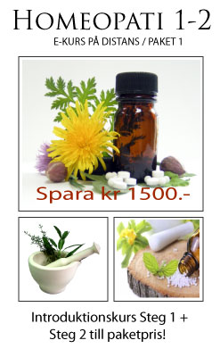 E-kurs Homeopati & Energimedicin Steg 1-2 till paketpris!