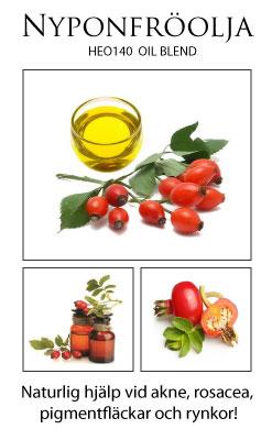 NYPONFRÖOLJA vid fet hud, akne och rosacea!