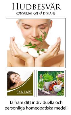 HUDBESVÄR - homeopatisk konsultation på distans