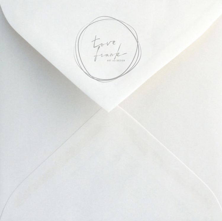 """""""Magnolia"""" Folded card 15x15cm"""