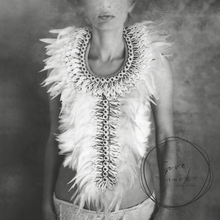 """""""Shells & Feathers"""" Dubbelt kort 15x15cm"""