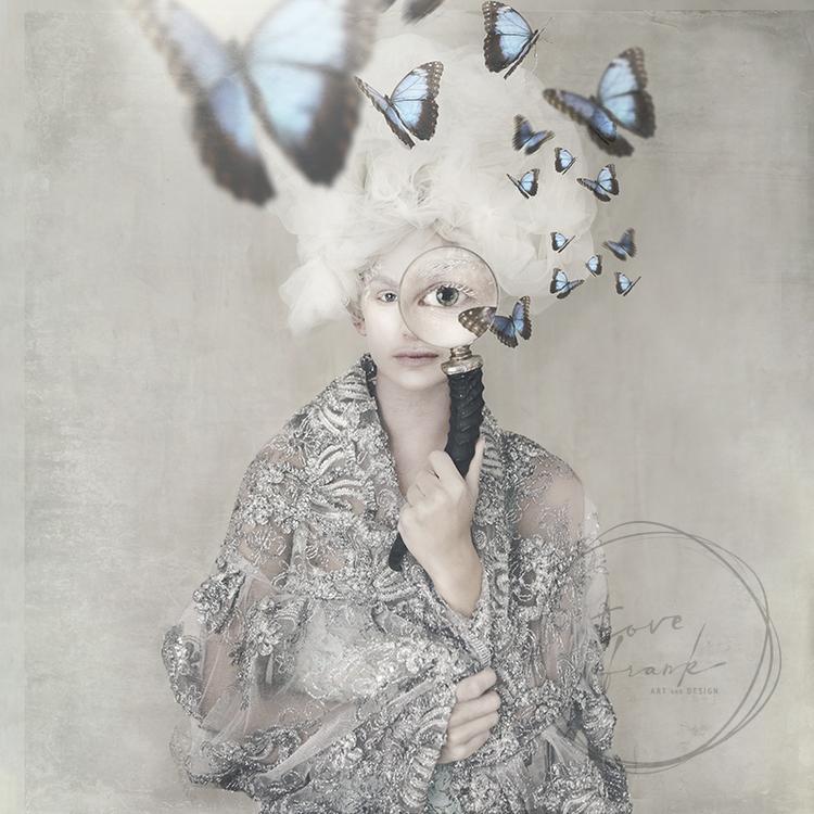 Butterfly Spy 15x15 cm Dubbelt kort