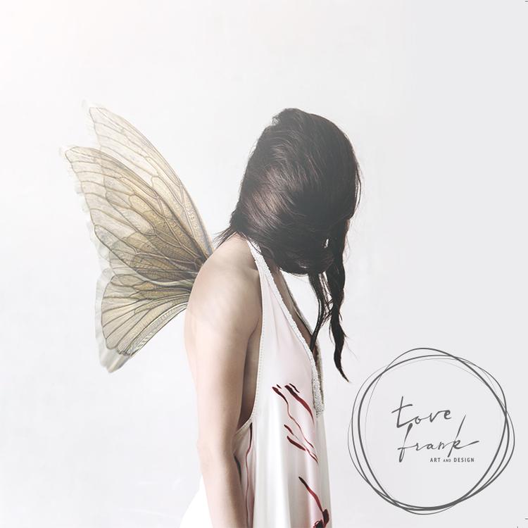 """Butterfly Girl"" Dubbelt kort 15x15cm"