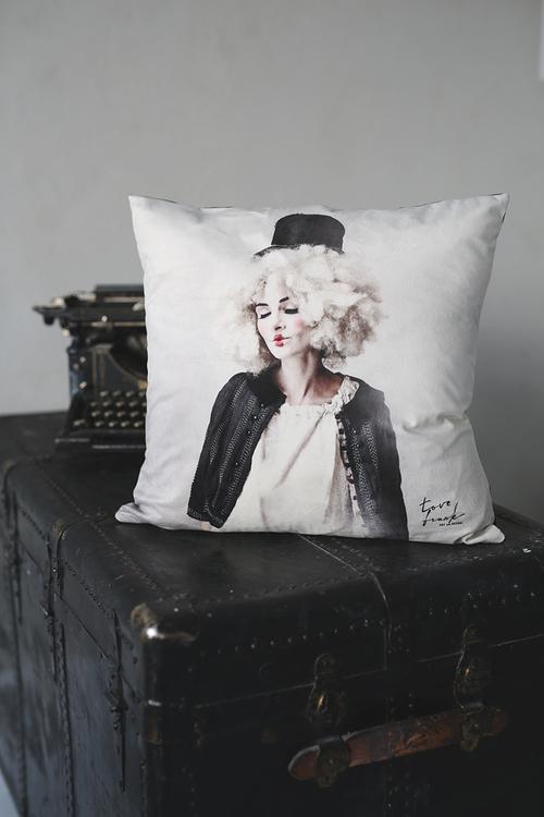 Stay there, pillowcase velvet 47x47 cm