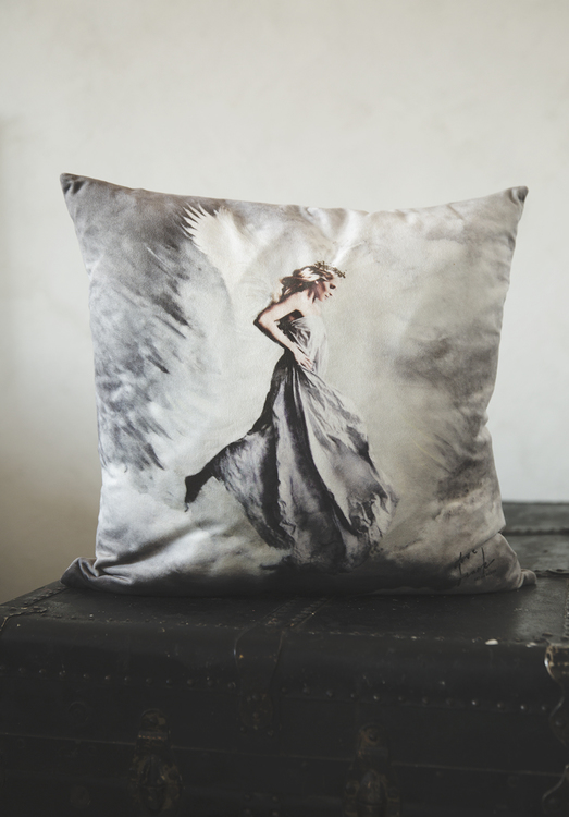 Freja, pillowcase in velvet, 47x47 cm