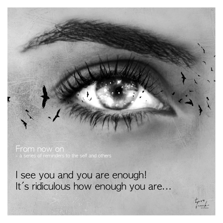 YOU ARE ENOUGH 30x30 cm print i kampanj för ungas psykiska hälsa
