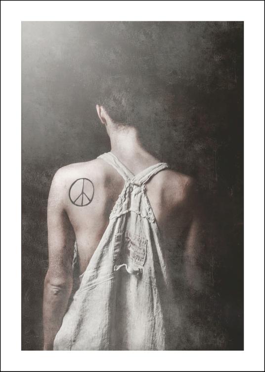 Peace, art print 50x70 cm
