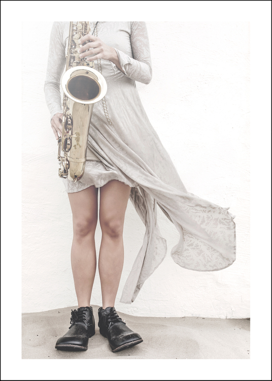 Music, art print 50x70 cm