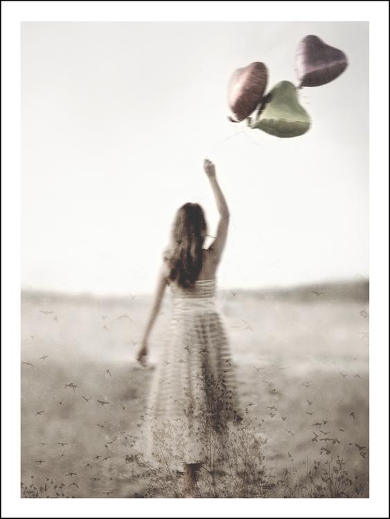 Balloonwalk - Art print 30x40 cm