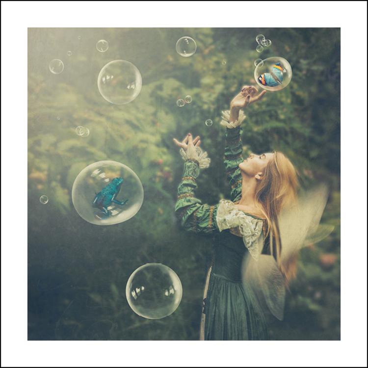 """Fairy Garden"" 50x50 cm"