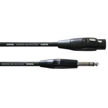 Kabel balanserad XLRF-TRS